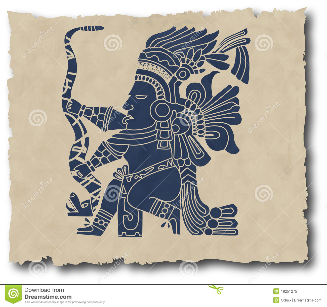 300f1f0bd The mayan and inca tribal stock vector. Illustration of border ...