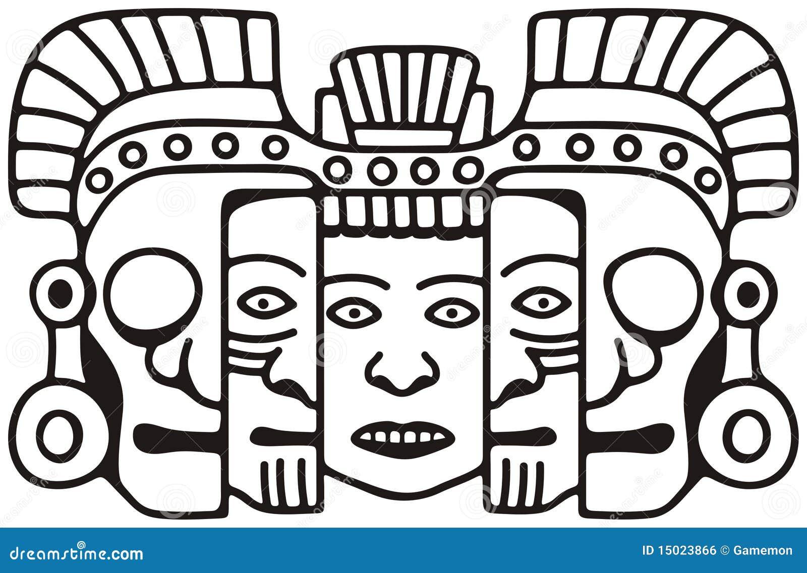 Mayan Mask Royalty Free Stock Image - Image: 15023866