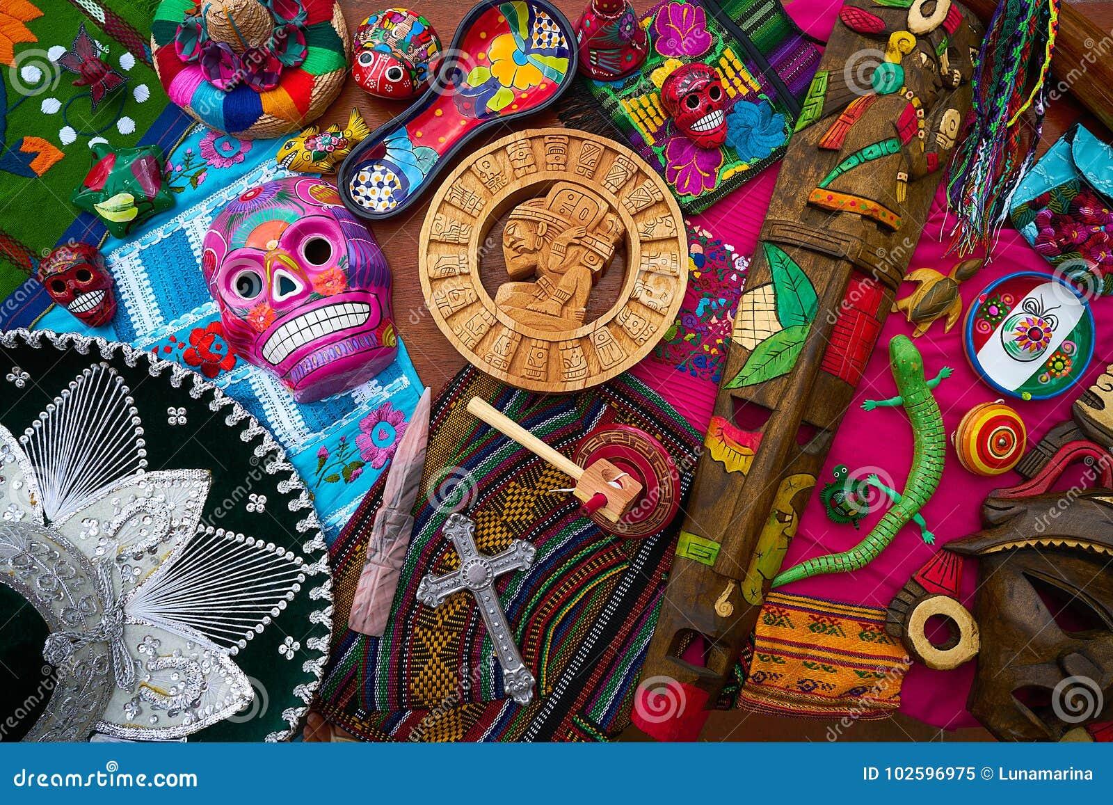 Mayan Mexicaanse mengeling van handcraftsherinneringen
