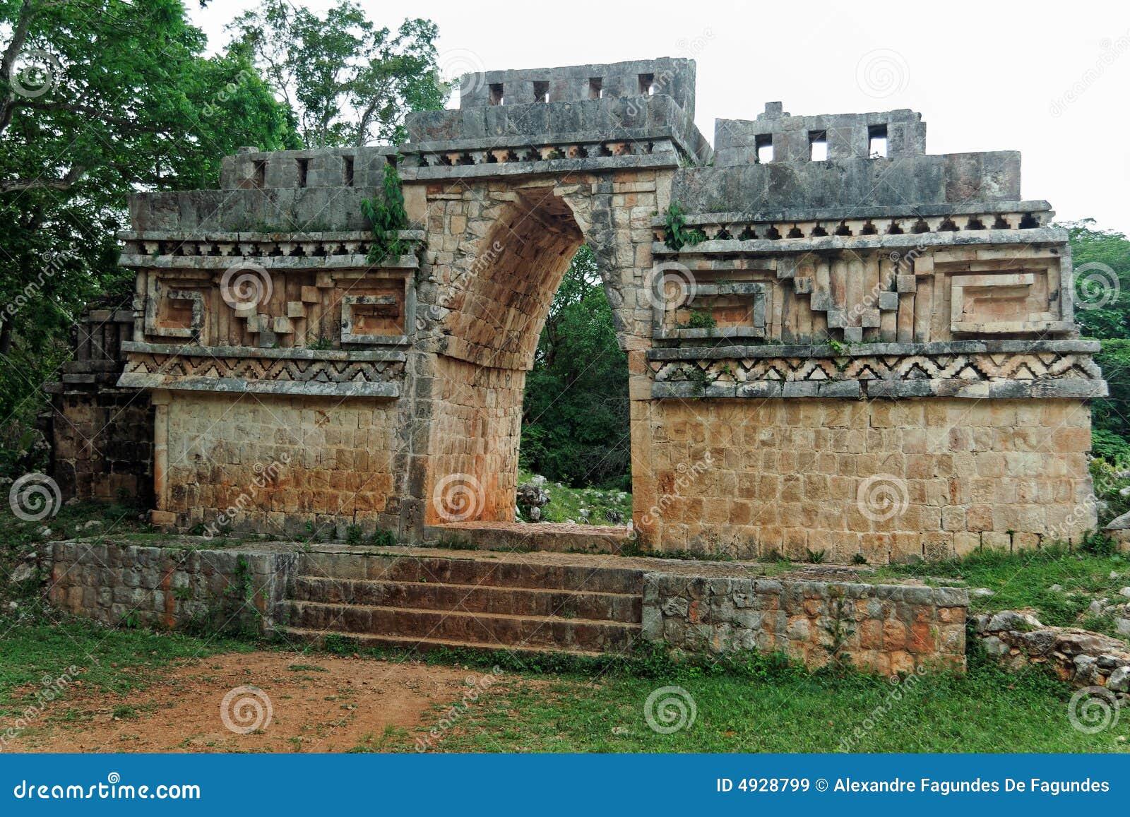 Mayan mexico för labna tempel yucatan