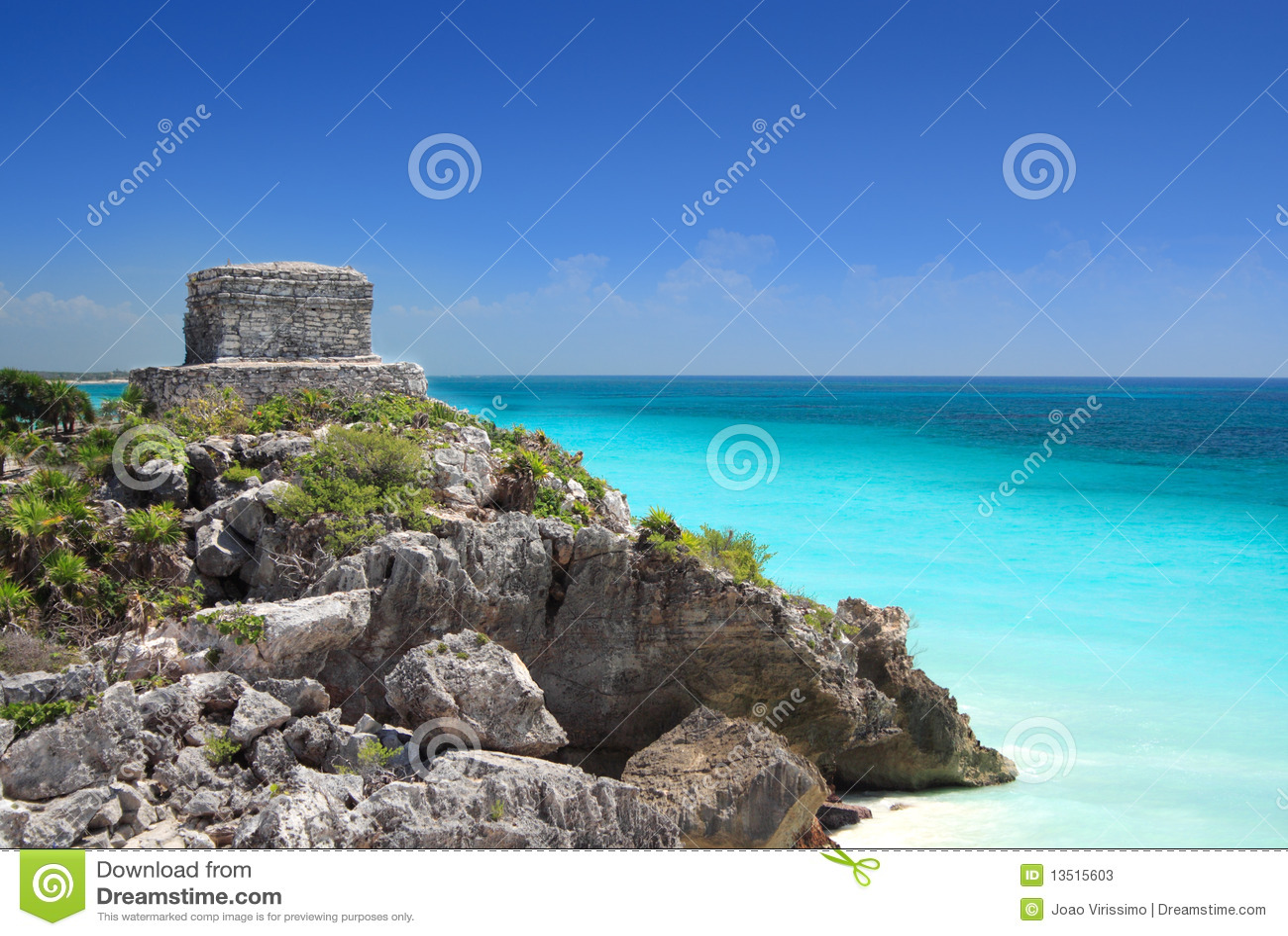Mayan ruin at Tulum near Cancun, Mexico