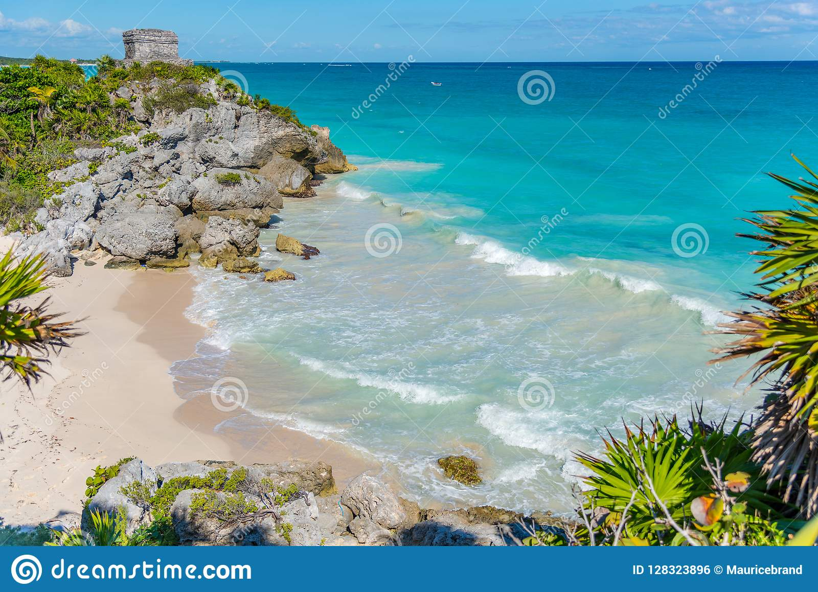Tulum beach in mexico america