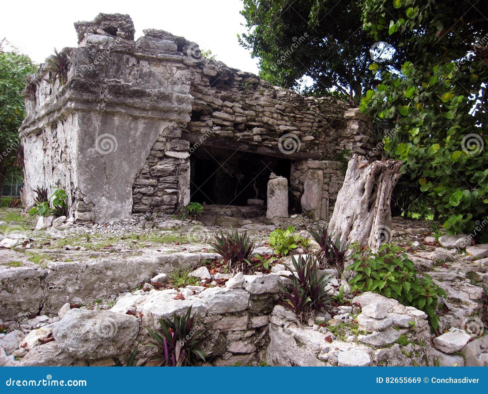 Mayan Ruins in Playa del Carmen, MX