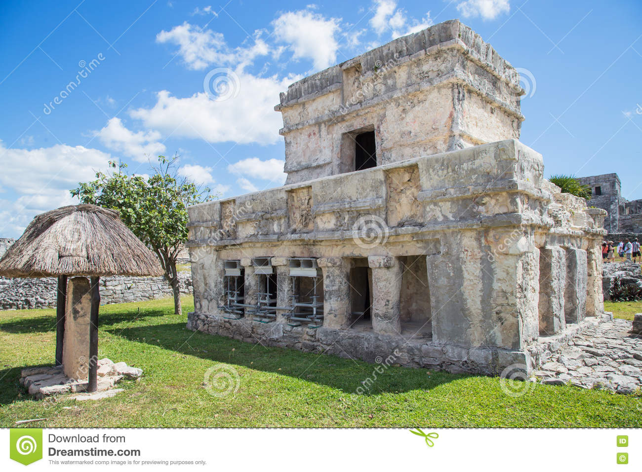 Mayan Ruins of Tulum. Old city. Tulum Archaeological Site. Riviera Maya. Mexico