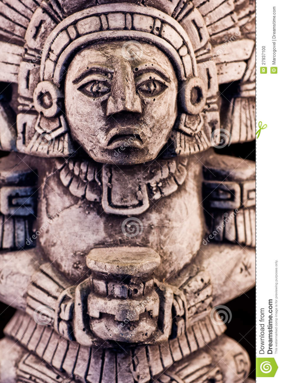 mayan sculpture stock photo