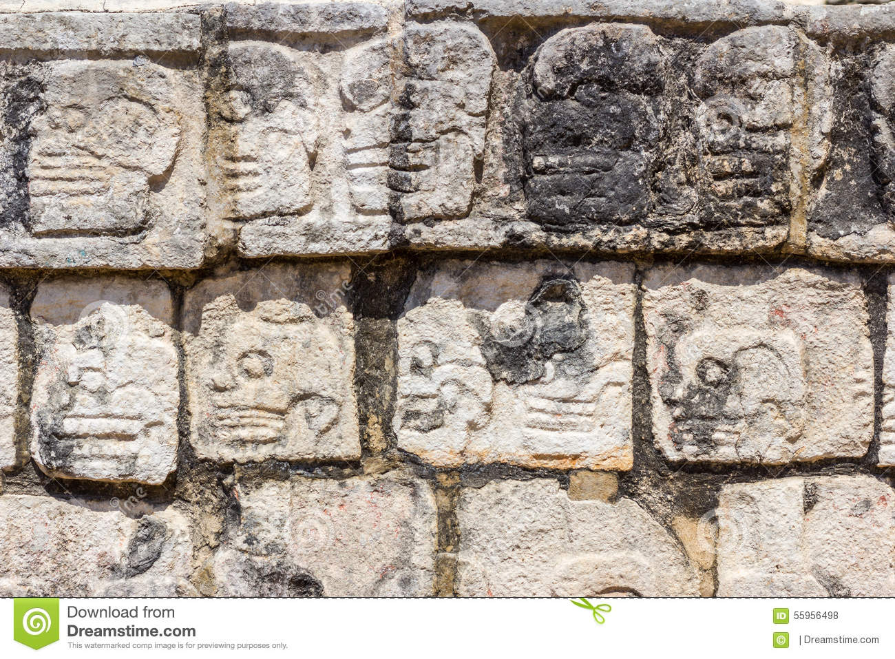 Mayan stone carvings stock photo image