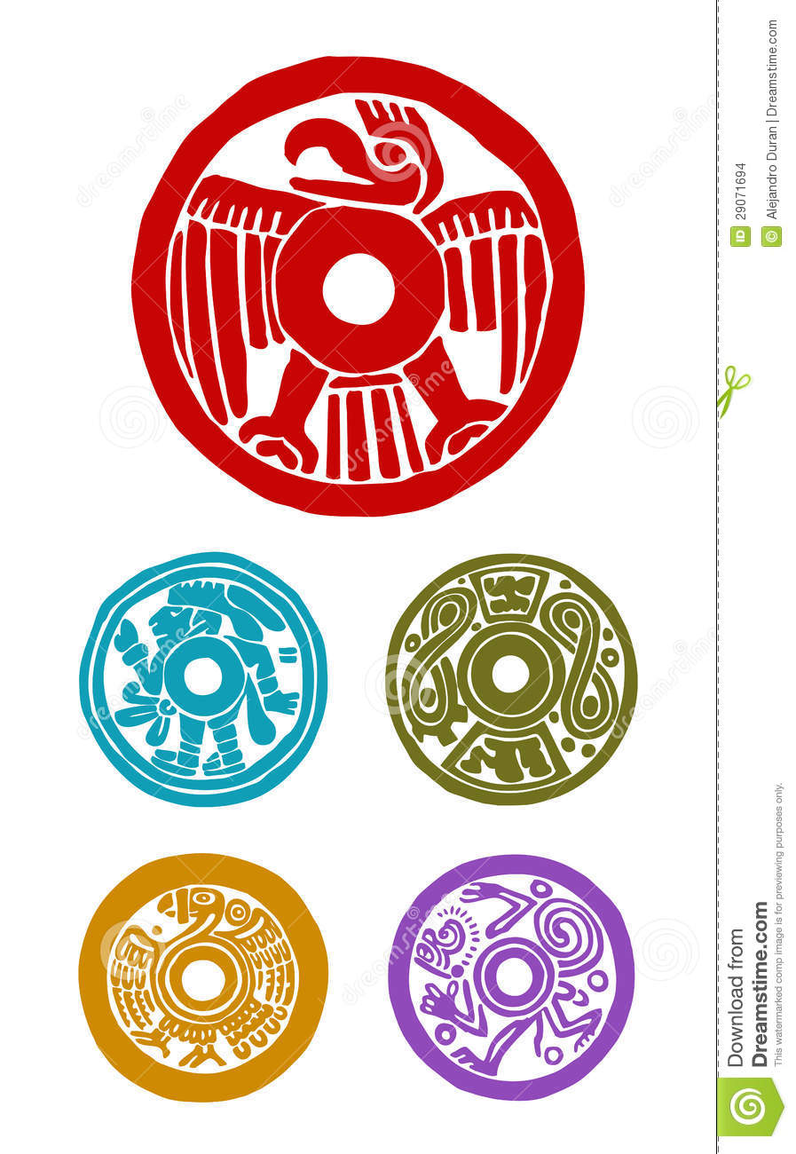 Mayan symbols stock vector illustration of eagle mexico 29071694 mayan symbols biocorpaavc
