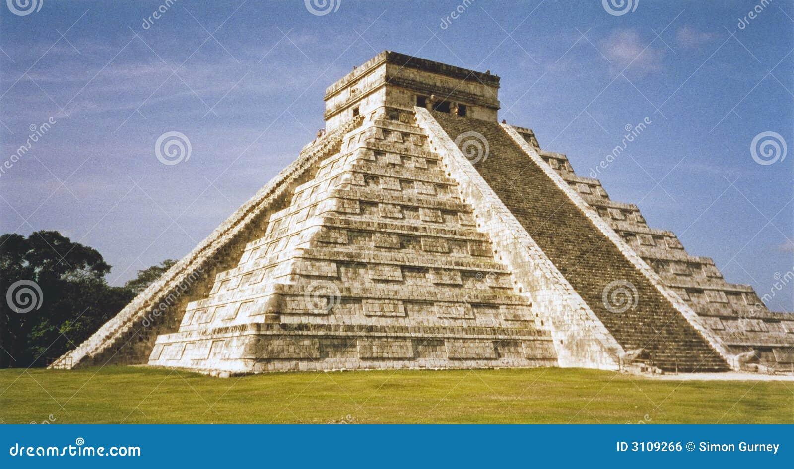 Mayan Temple Pyramid Chichen Itza Mexico