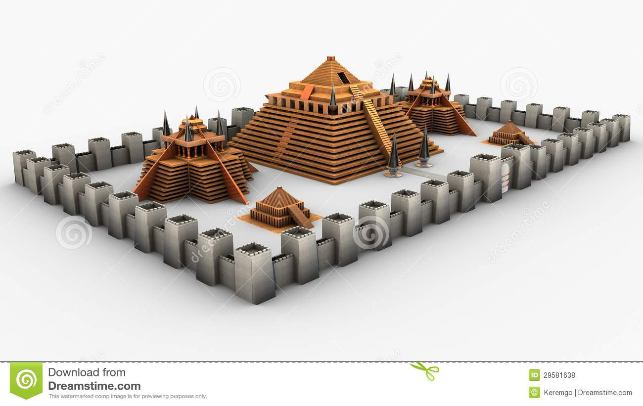 Temple city like environment inspired by Maya/Inca culture with a ...