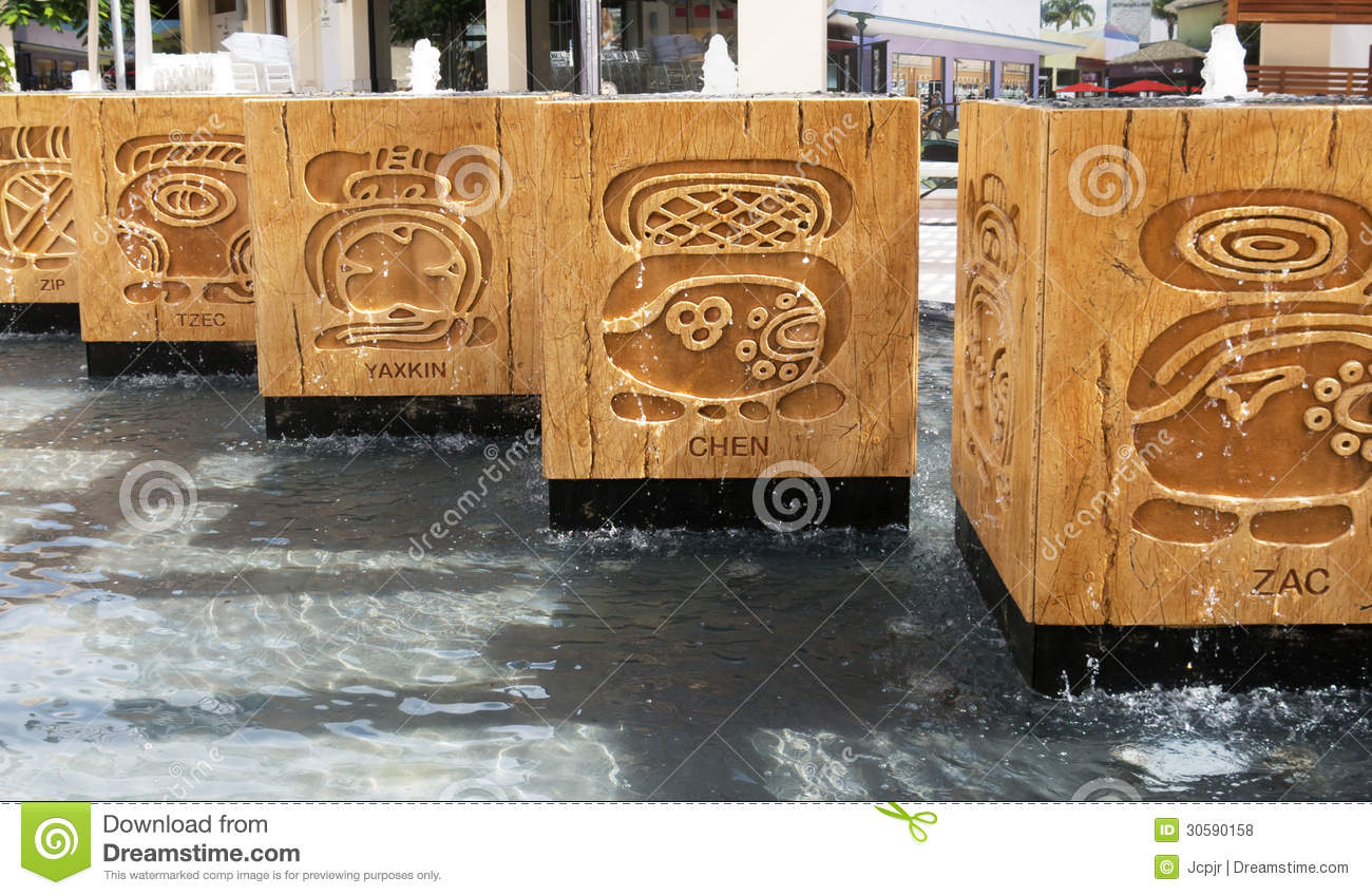 Mayan Water Fountains Royalty Free Stock Photos - Image ...