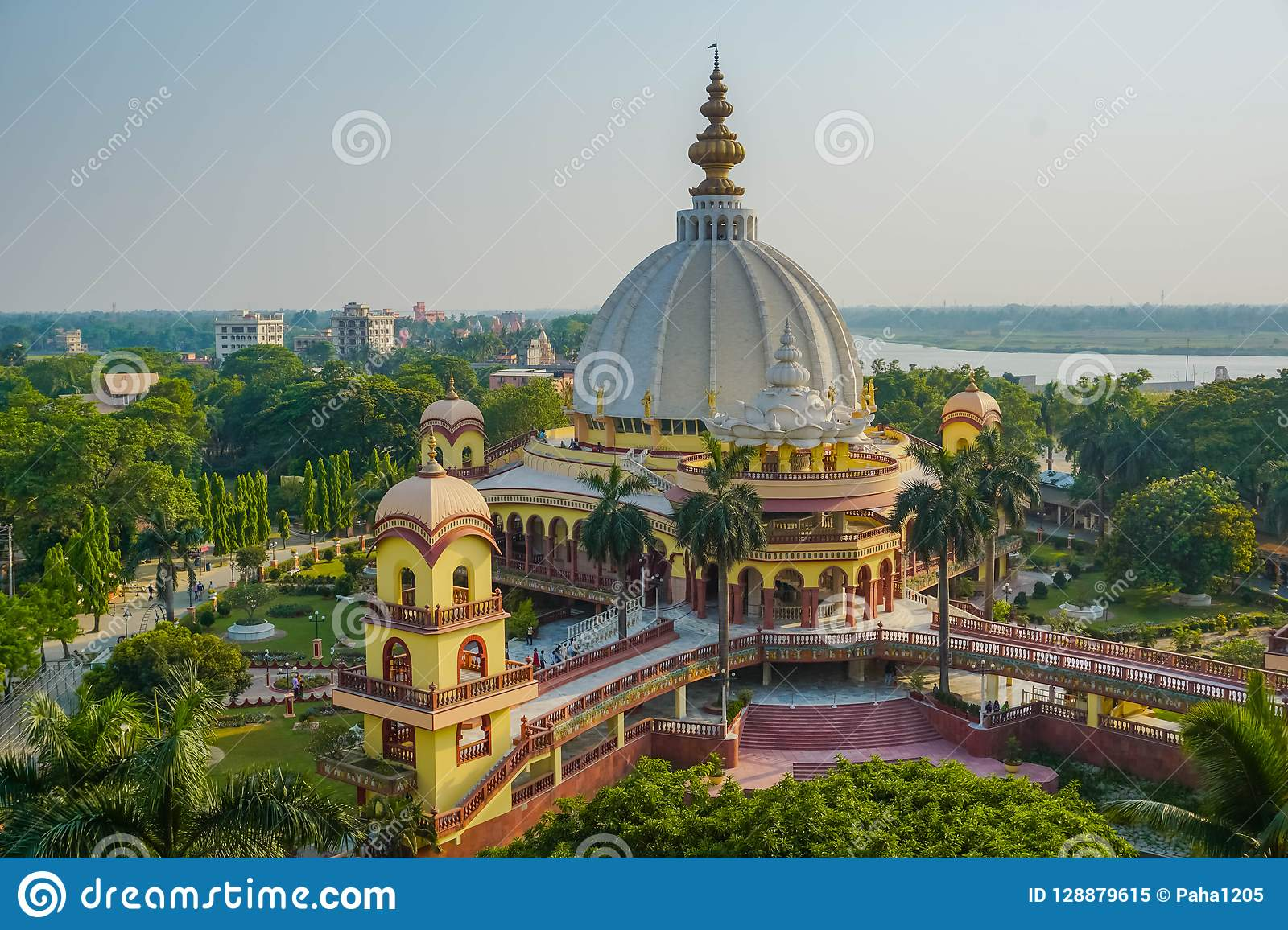 Mayapur Samadhi Mandir  West Bengal, India Stock Image