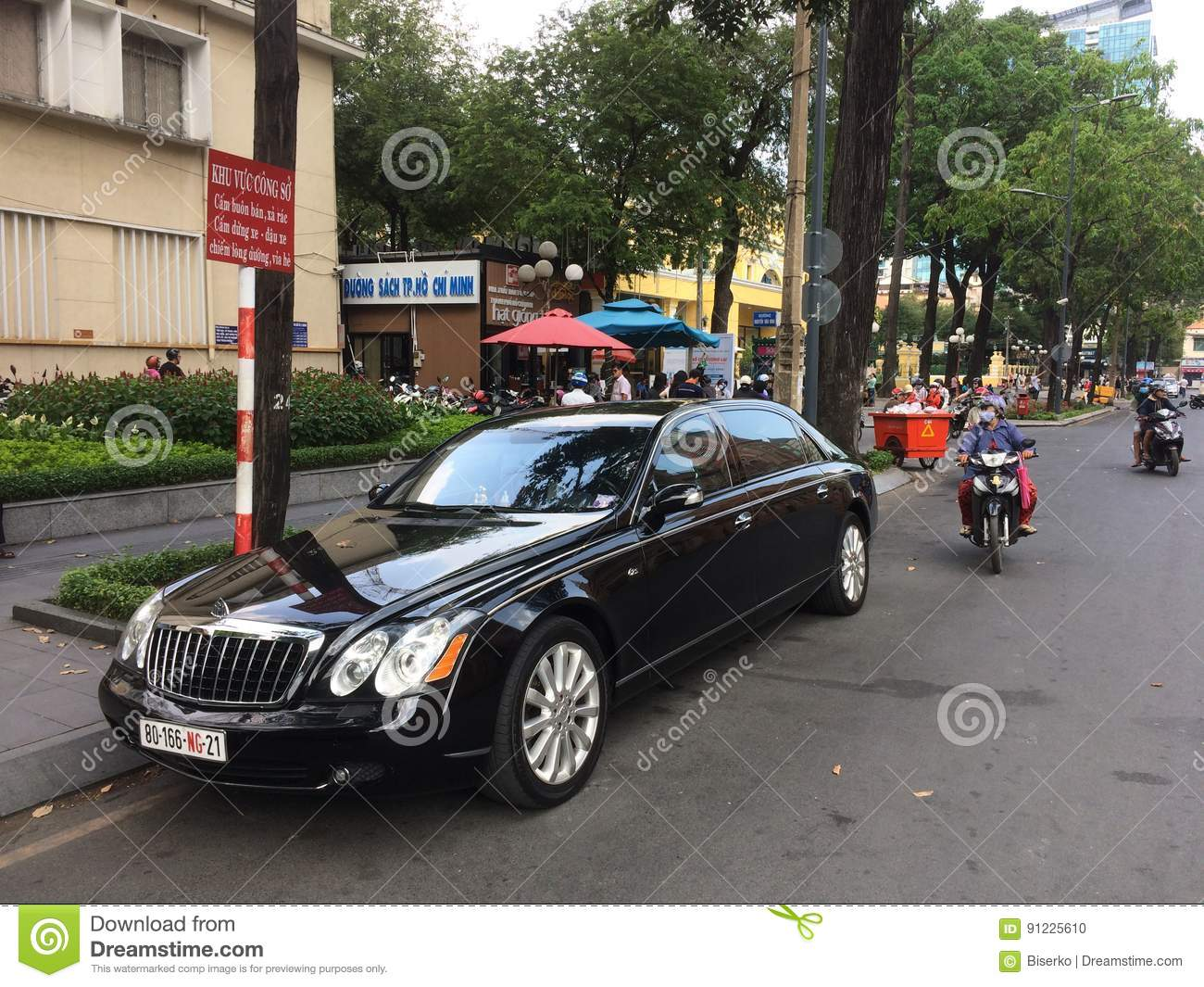 Maybach Luxury Car Editorial Image Image Of Ultra Producer 91225610
