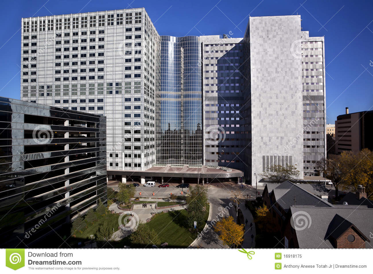 The famous Mayo Clinic Medical Center in Rochester, Minnesota.