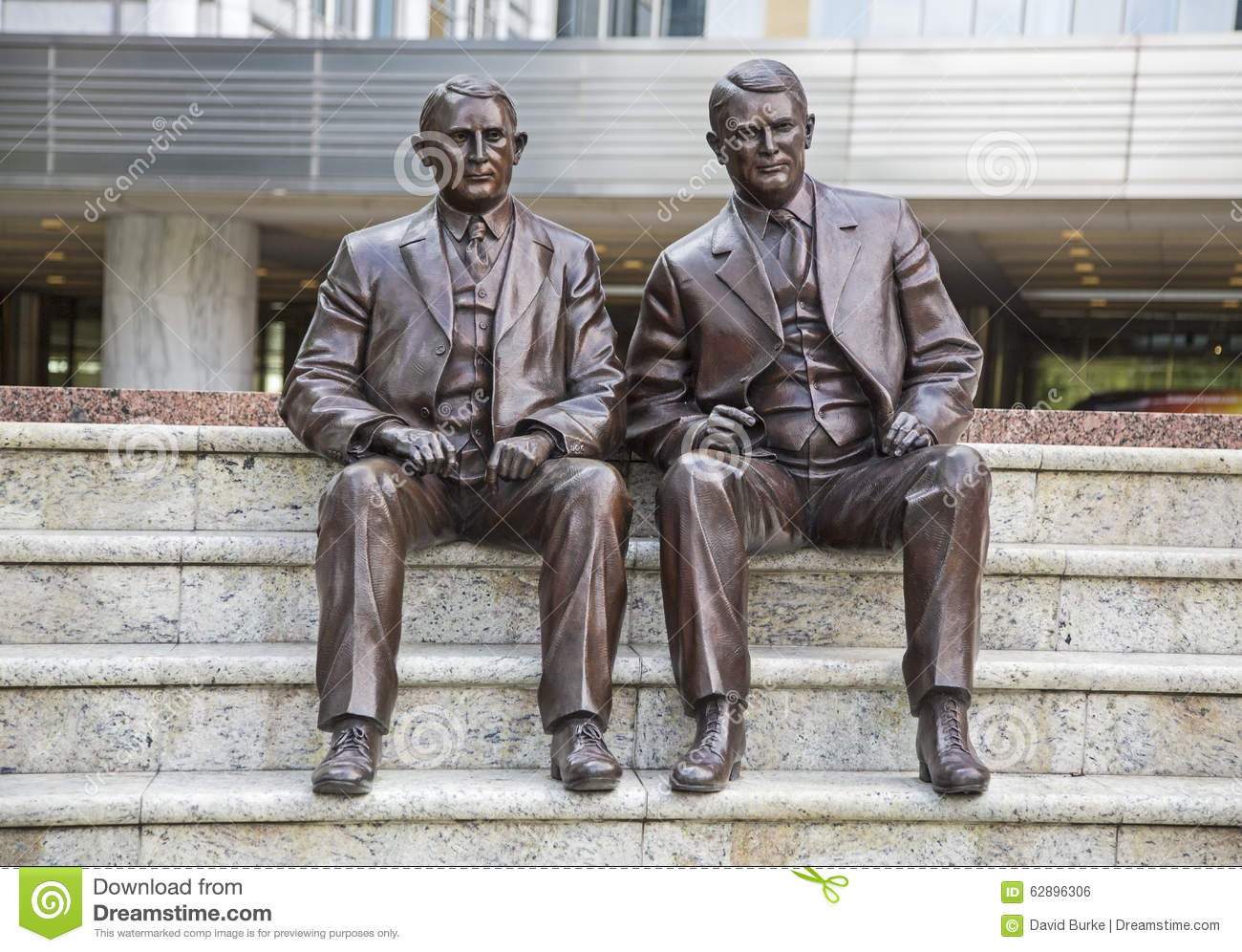 Mayo Clinic Brothers William Charles Statue Stock Photo