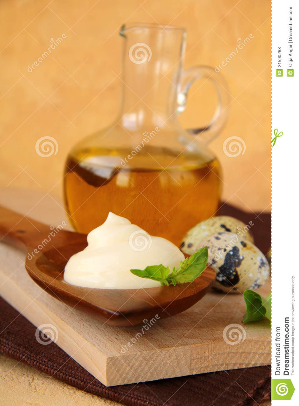 Mayonnaise With Ingredients Royalty Free Stock Photos - Image ...