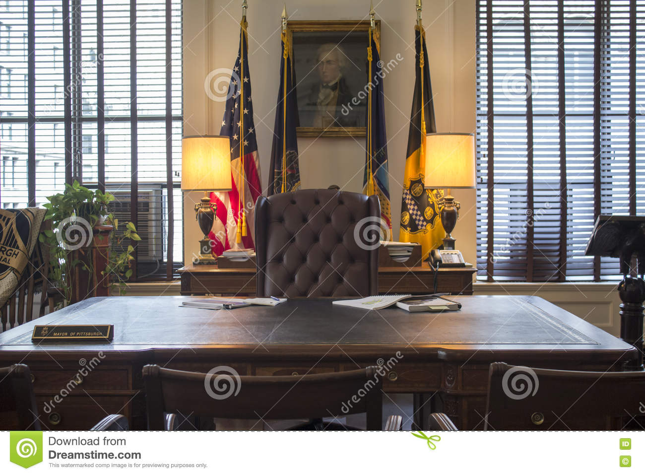 mayor of pittsburgh office front editorial photography image