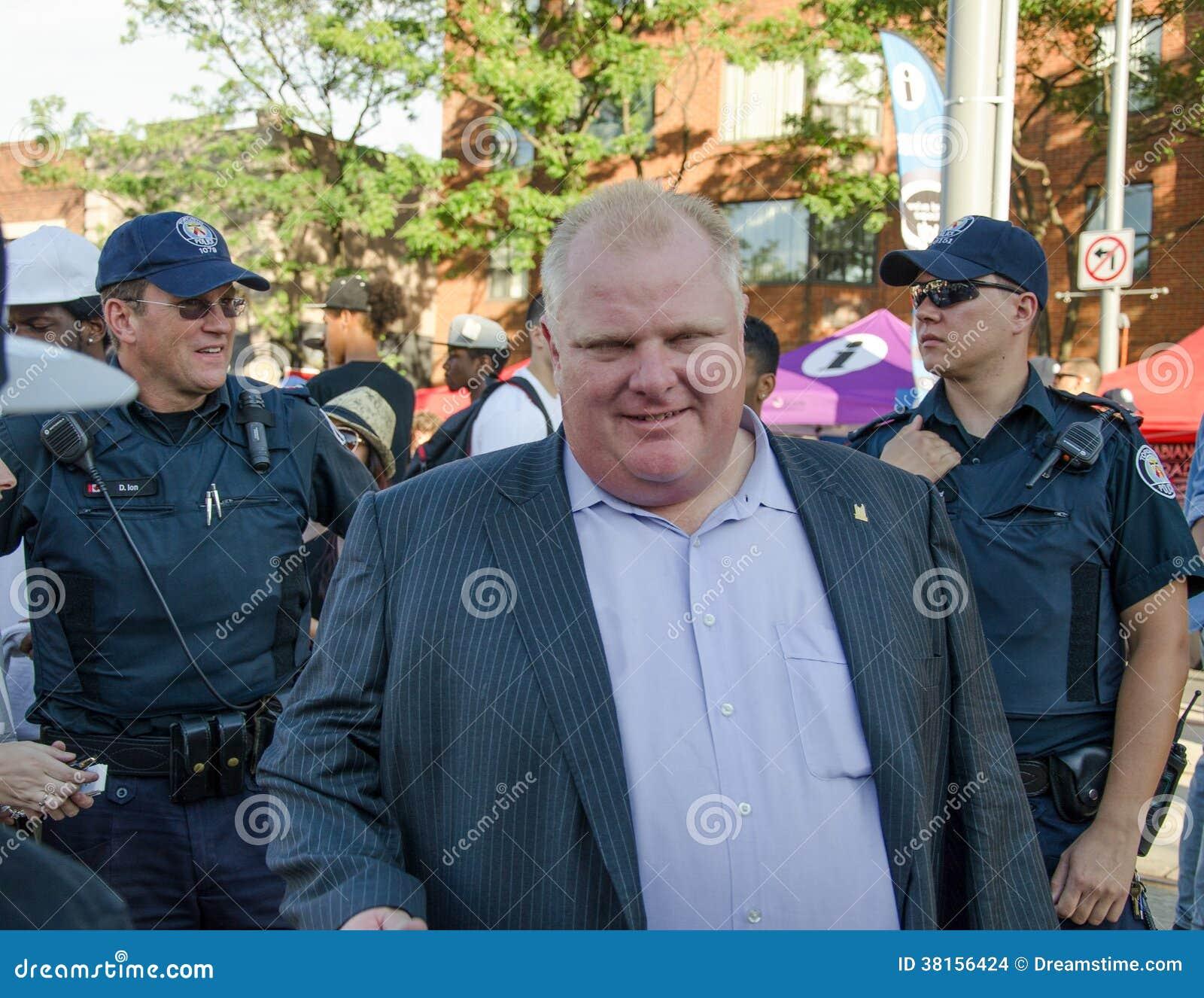 Mayor of Toronto Rob Ford visits Salsa on St. Clair