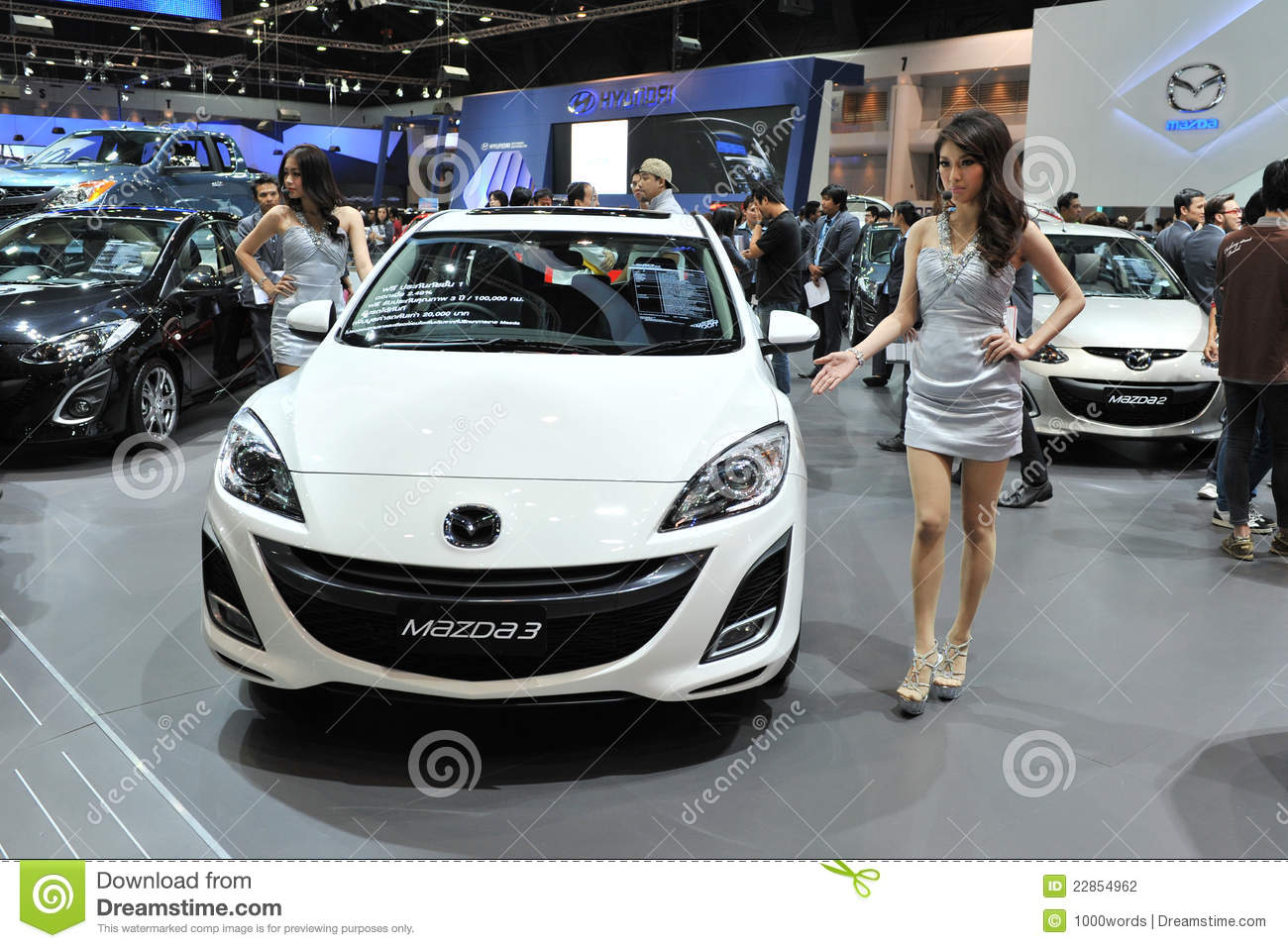 Mazda 3 On Display At A Motor Show Editorial Photography