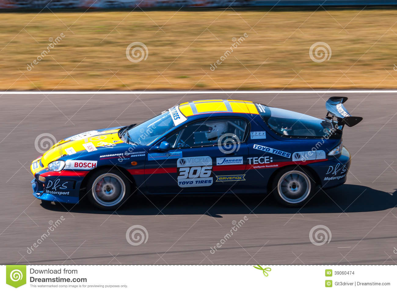 Mazda Mx3 Race Car Editorial Stock Image Image 39060474