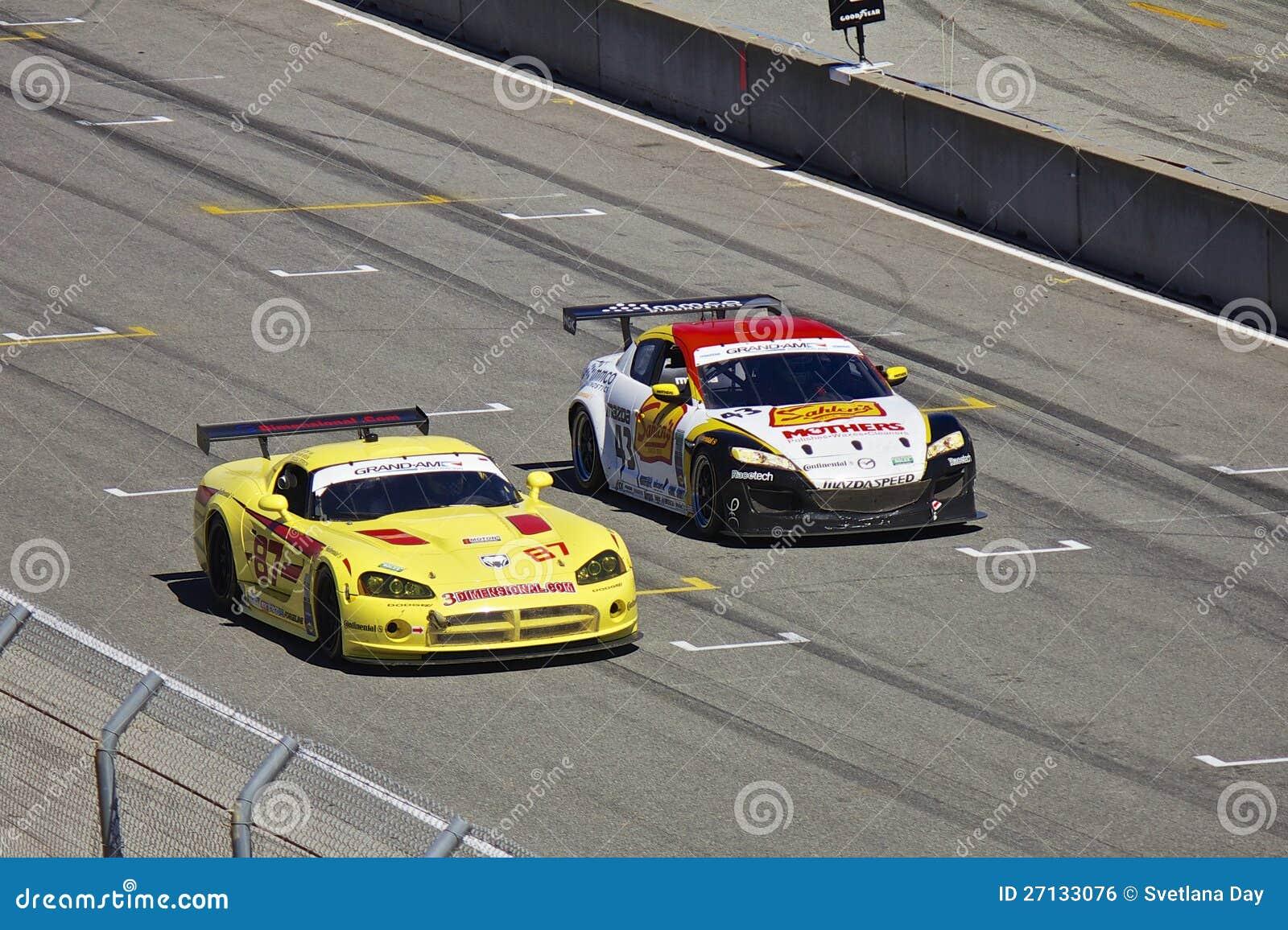 4.7 Dodge Motor >> Mazda RX-8 GT & Dodge Viper Grand AM @ Rolex Races Editorial Photo - Image: 27133076