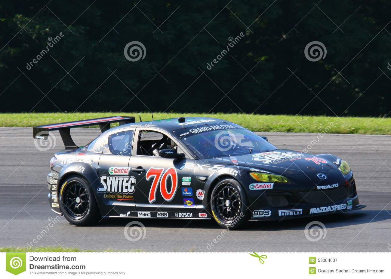 Mazda RX-8 race car editorial photography. Image of association ...