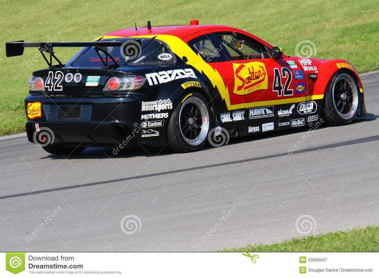 Mazda RX-8 race car editorial photography. Image of drift - 53009047