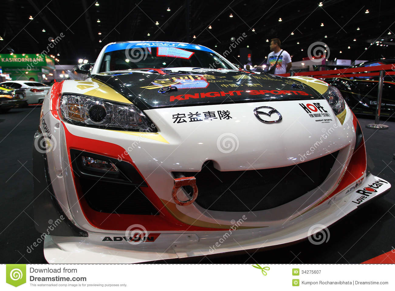 mazda rx8 sport car bangkok auto salon editorial photography image 34275607. Black Bedroom Furniture Sets. Home Design Ideas