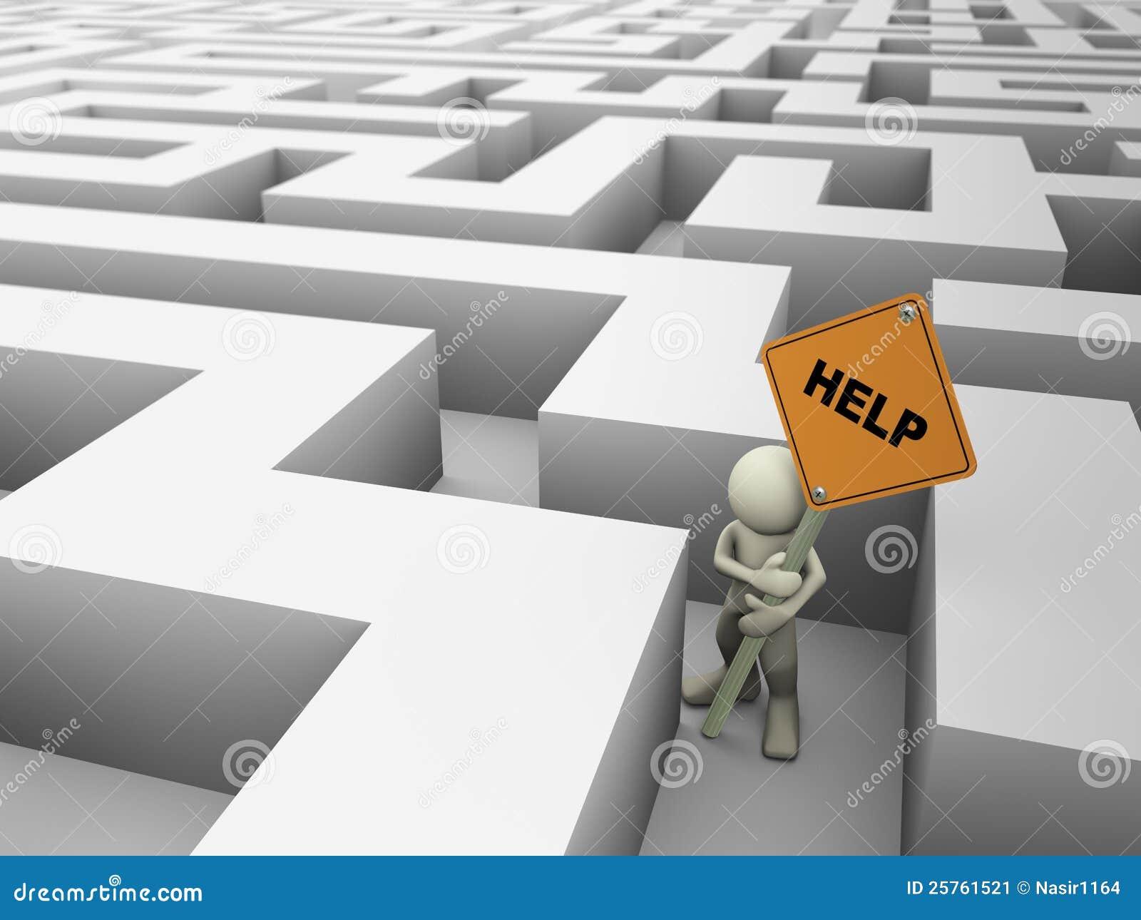 Maze för man 3d