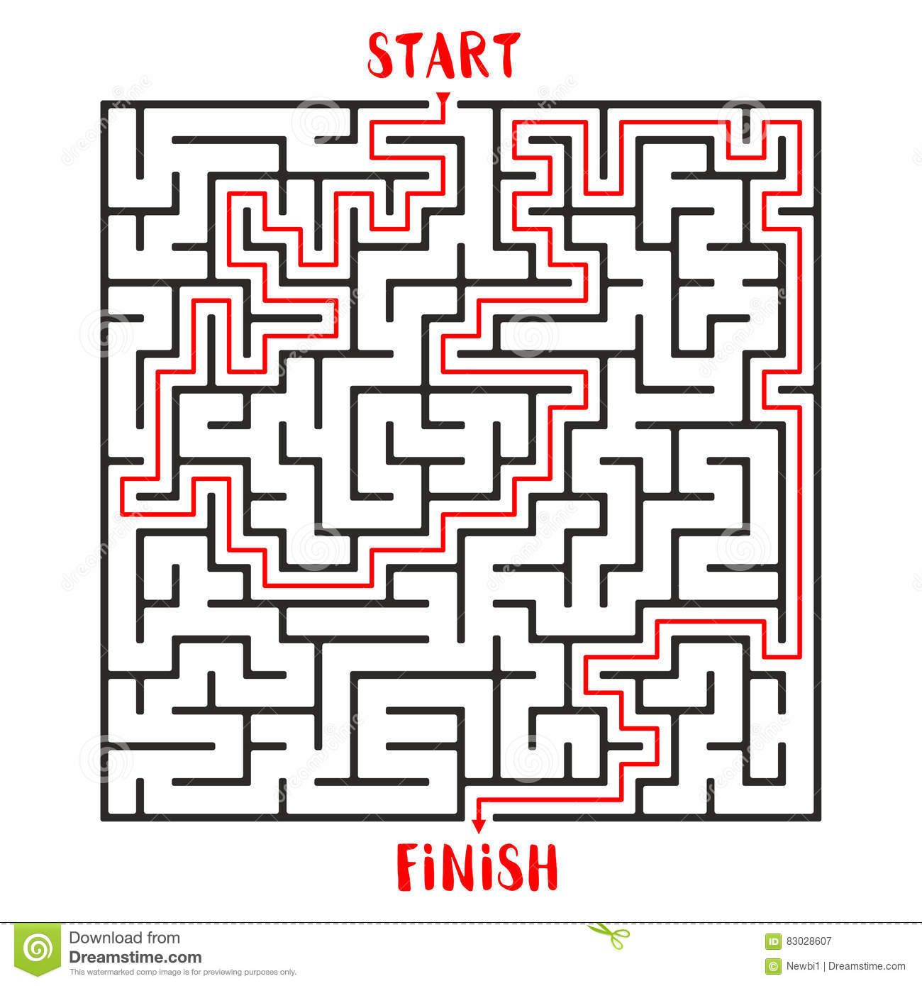 maze game logo labyrinth with entry and exit illustration 83028607