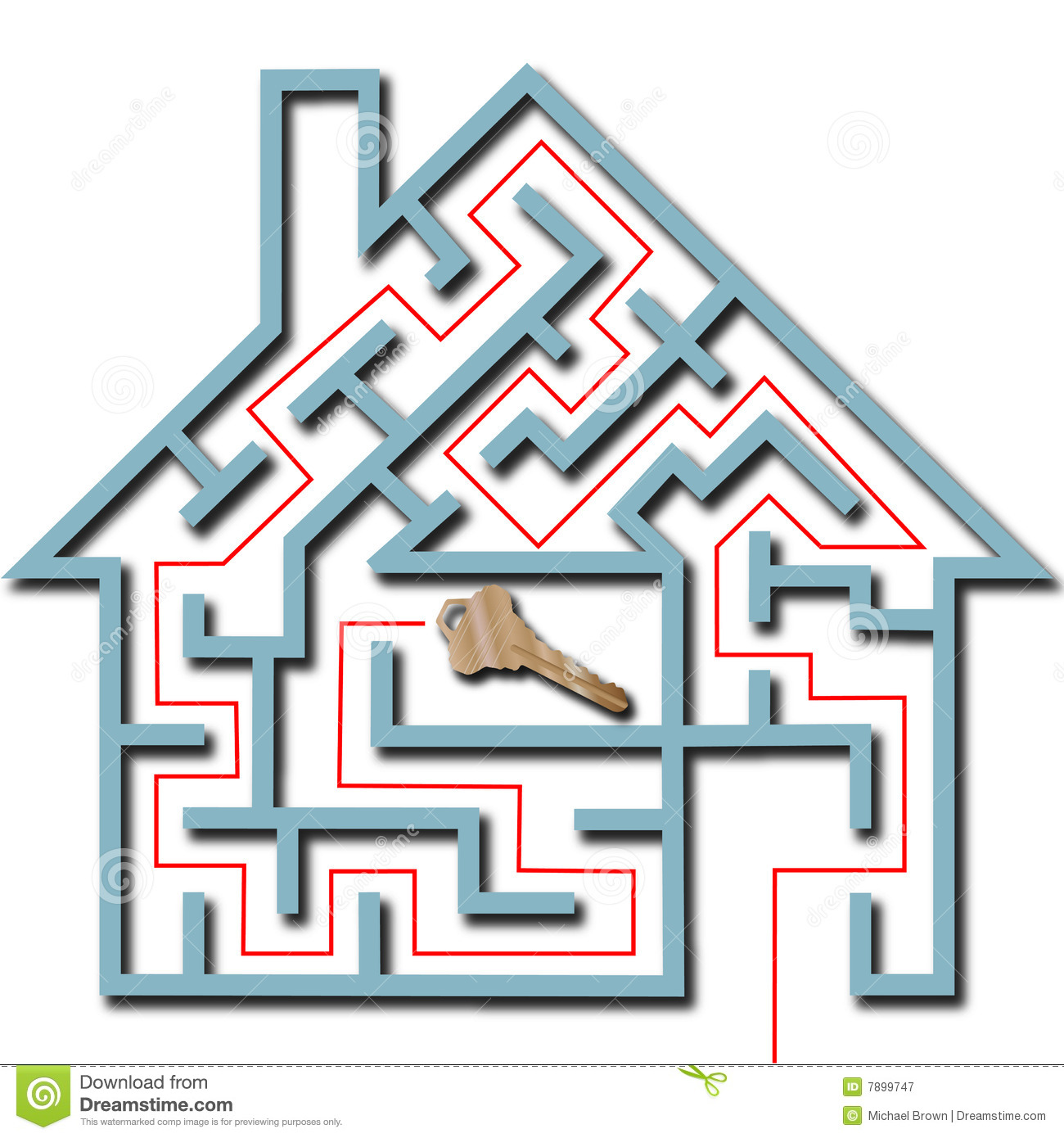 Maze home puzzle solution house key shadow