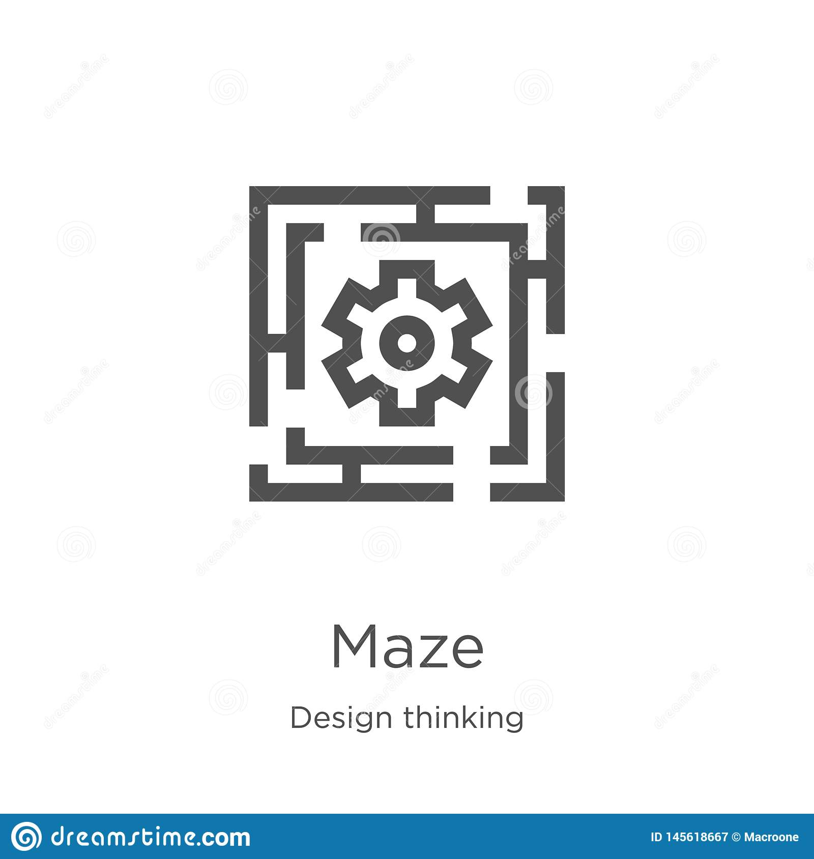 maze icon vector from design thinking collection. Thin line maze outline icon vector illustration. Outline, thin line maze icon