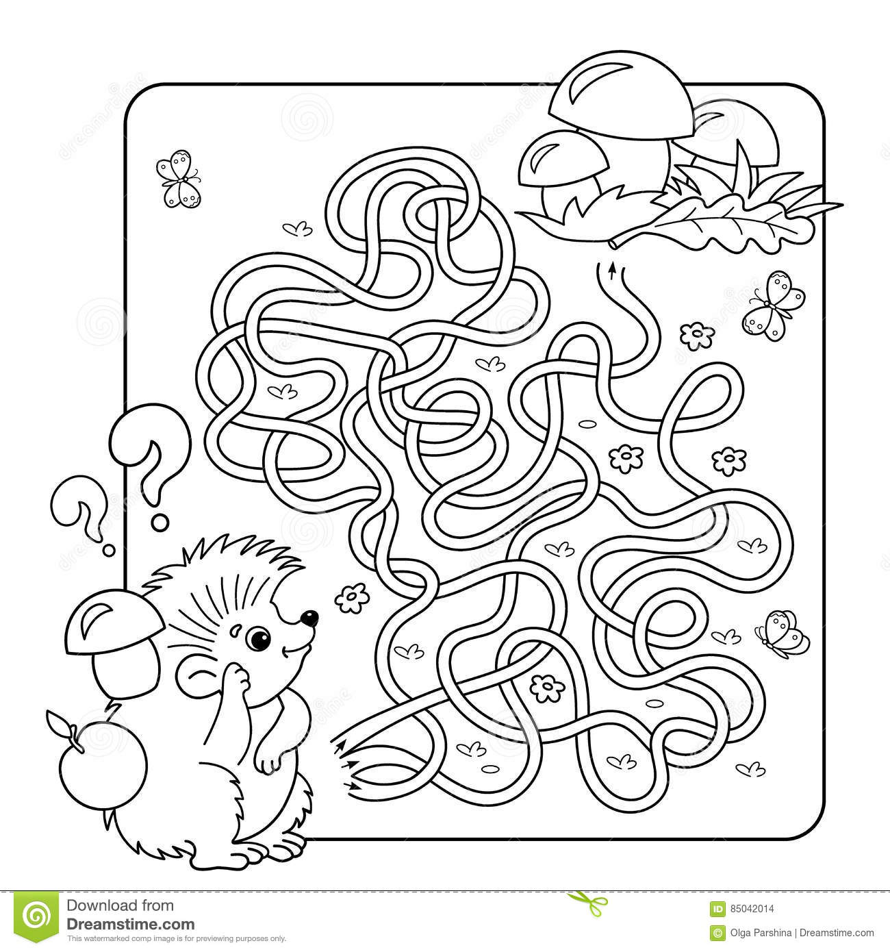 maze or labyrinth game for preschool children puzzle tangled