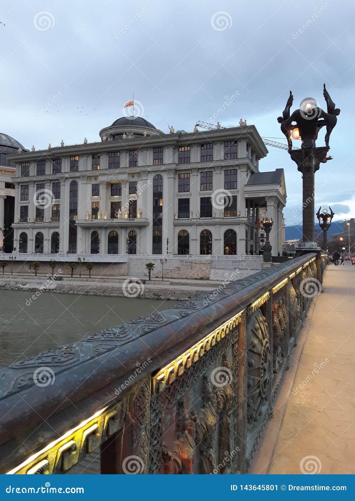 Mazedonien, Skopje, Stadt, Architektur, Tageslicht, Tourismus, Kunst, Quadrat