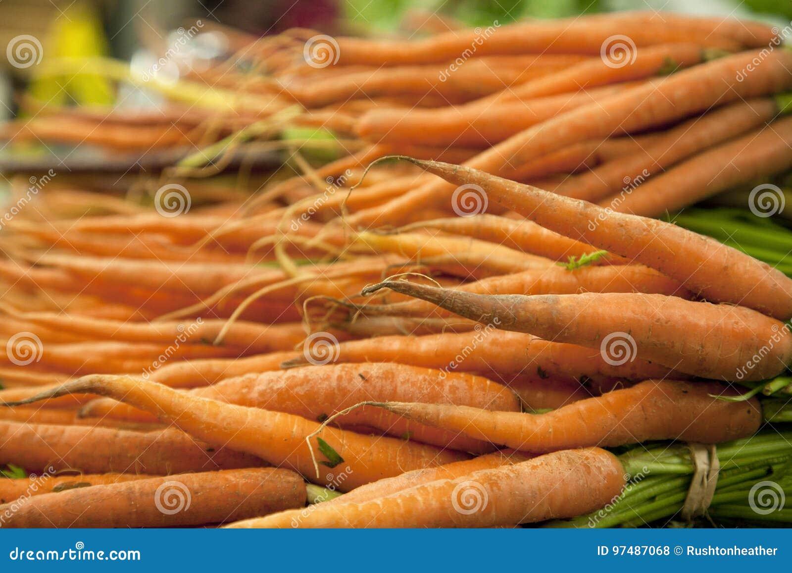 Mazzi di carote arancio
