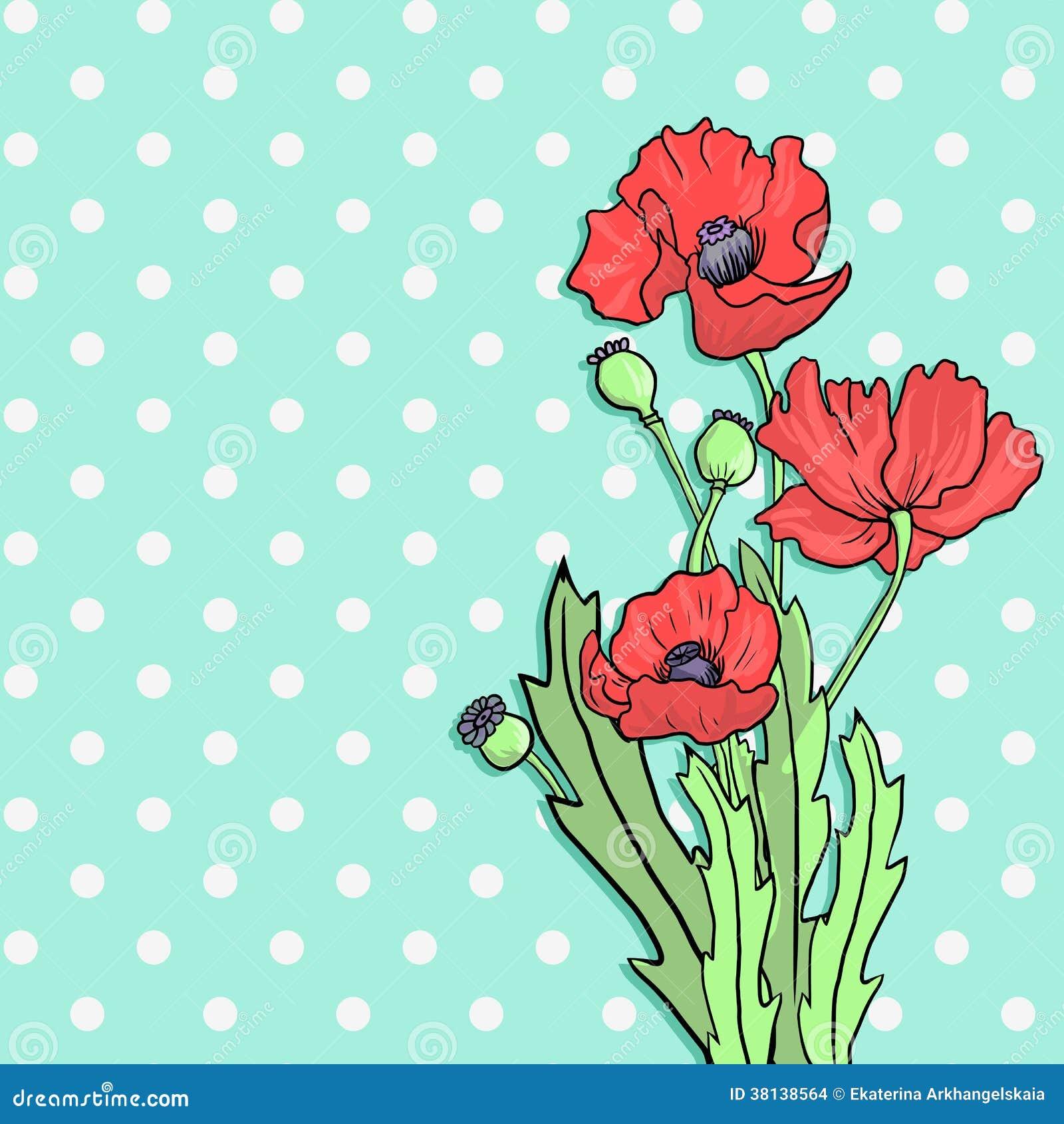 Mazzo dei fiori del papavero illustrazione vettoriale for Disegni del mazzo del cortile anteriore