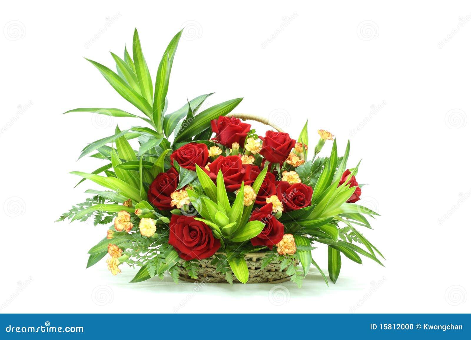 Mazzo di fiori un cestino stock photos royalty free pictures for Costruire un mazzo di portico