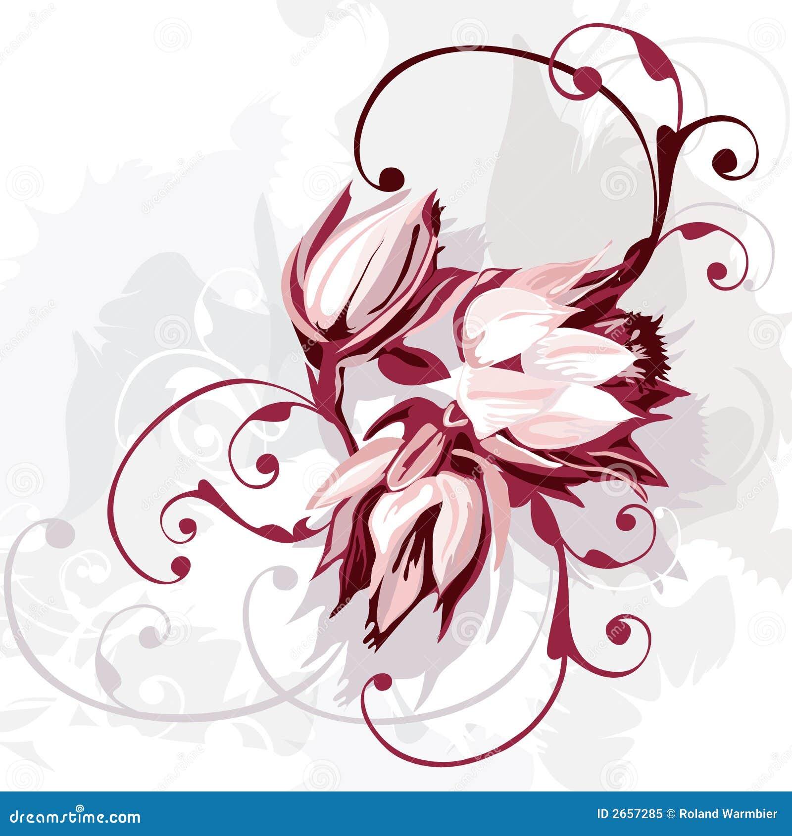Mazzo di fiori viola fotografia stock libera da diritti for Disegni fiori per tatuaggi