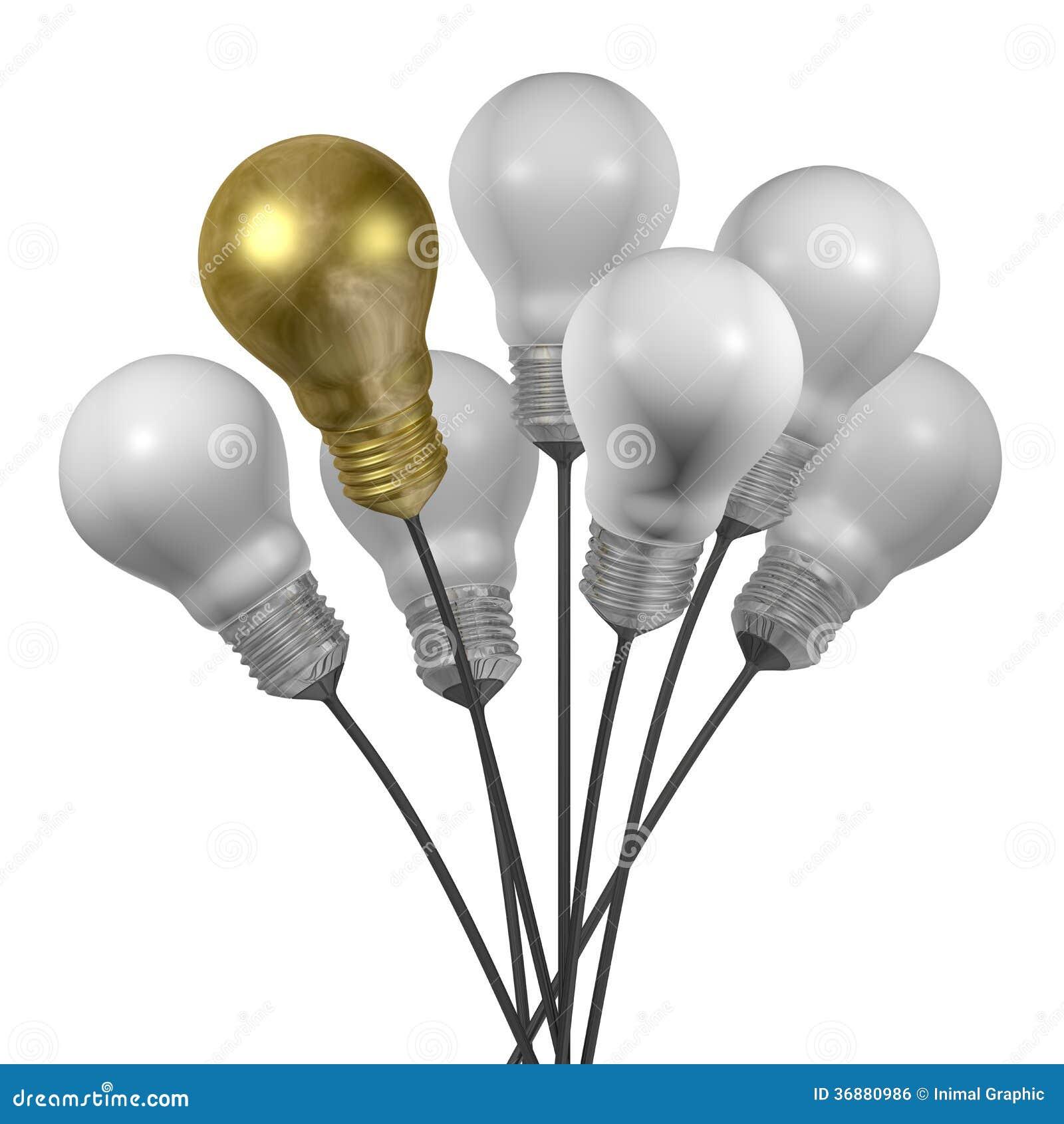 Download Mazzo Di Molte Lampadine Della Luce Bianca E Dorata Illustrazione di Stock - Illustrazione di lampada, estratto: 36880986