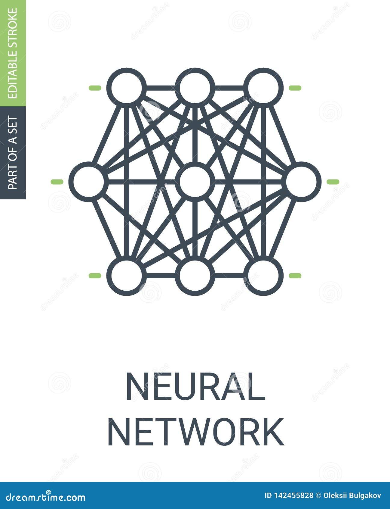 Mazzo di nodi dell icona della rete neurale dell icona neurale di web
