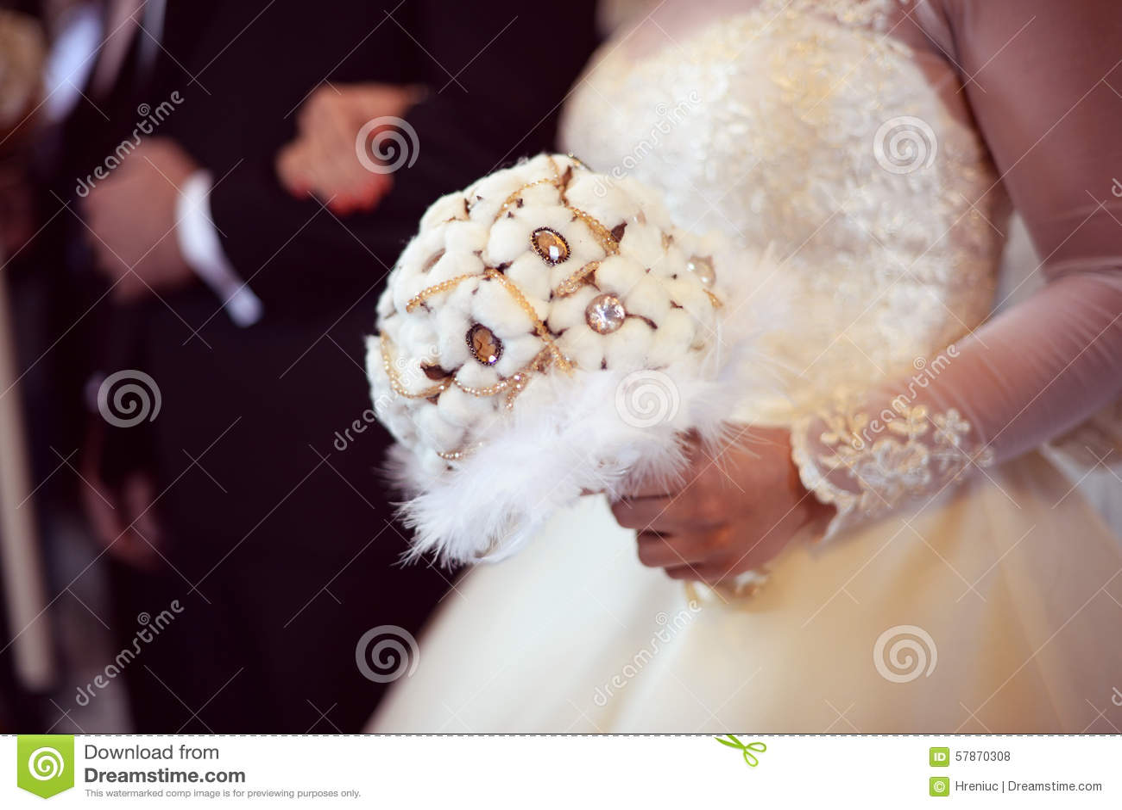 Mazzo di nozze del cotone fotografia stock immagine for Progetti di costruzione del mazzo