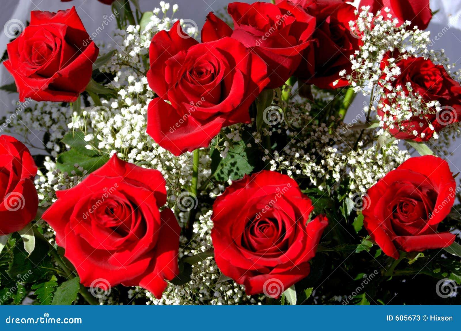 Super Mazzo di rose immagine stock. Immagine di bianco, profumo - 605673 JE54