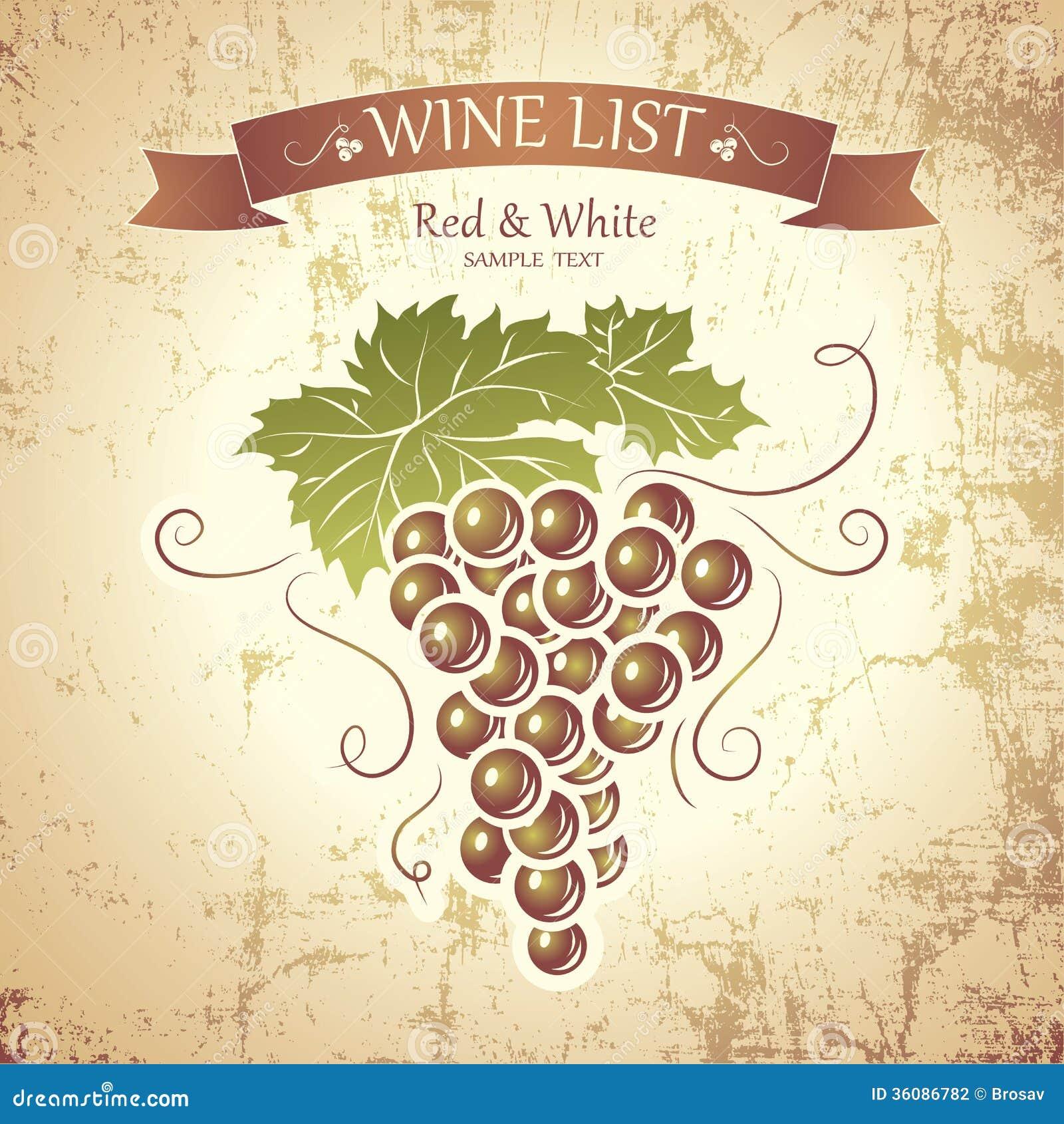 Estremamente Mazzo Di Uva Per Le Etichette Di Vino Illustrazione Vettoriale  MB19