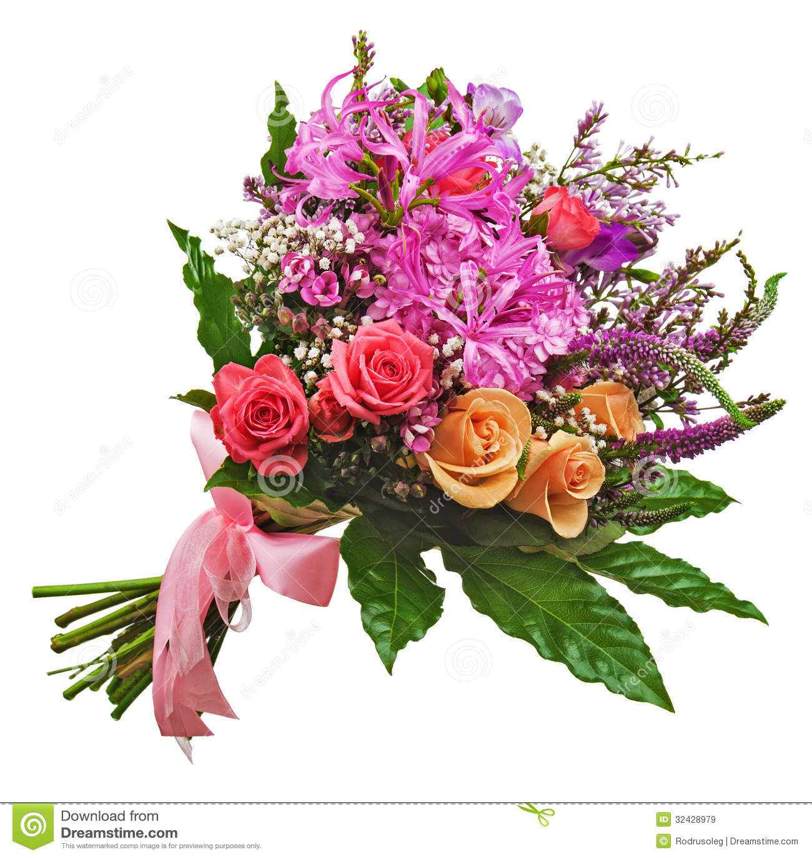 Mazzo floreale delle rose dei gigli e delle orchidee for Disegni del mazzo del secondo piano