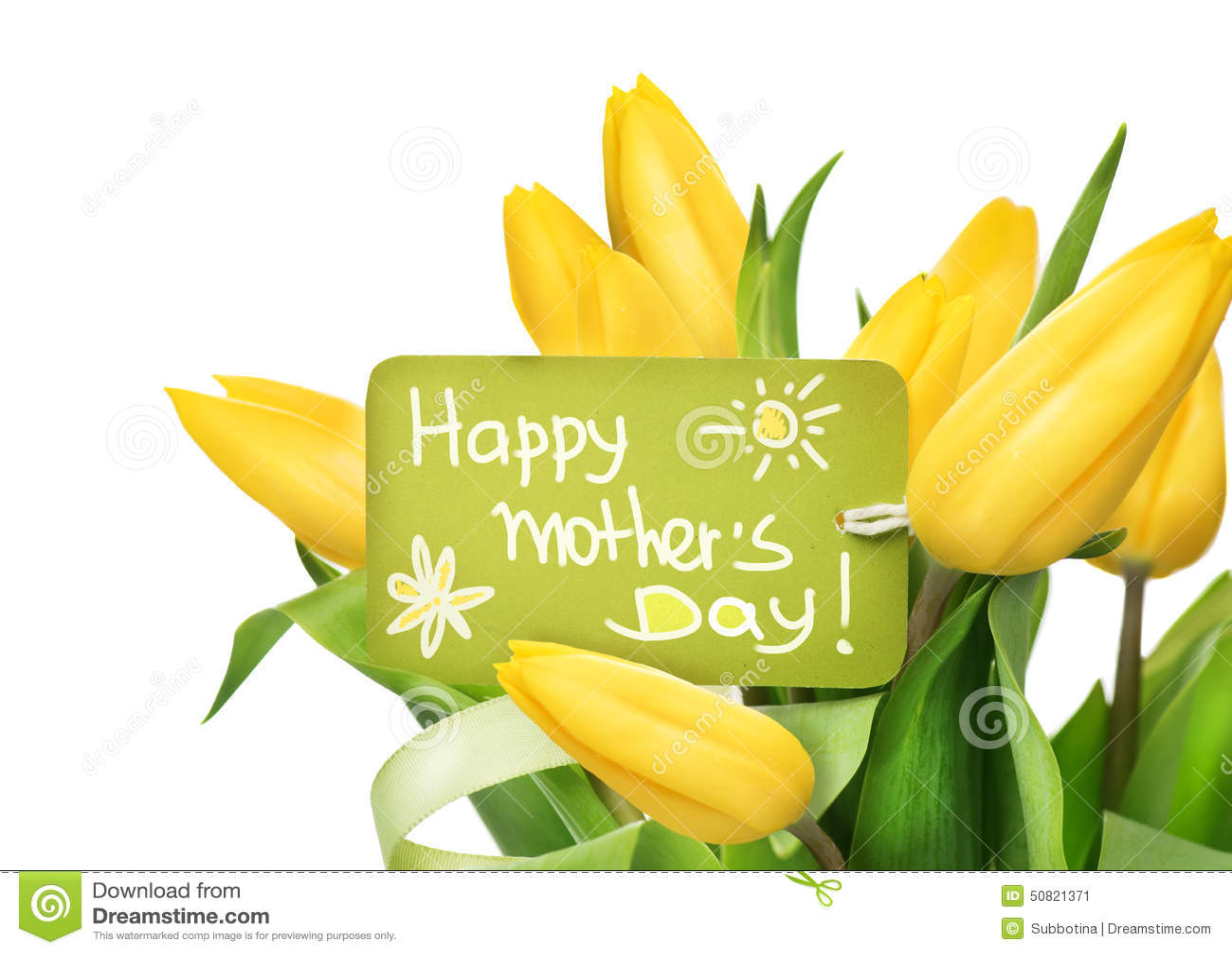 Fotografia Stock: Mazzo giallo del fiore dei tulipani di festa della ...