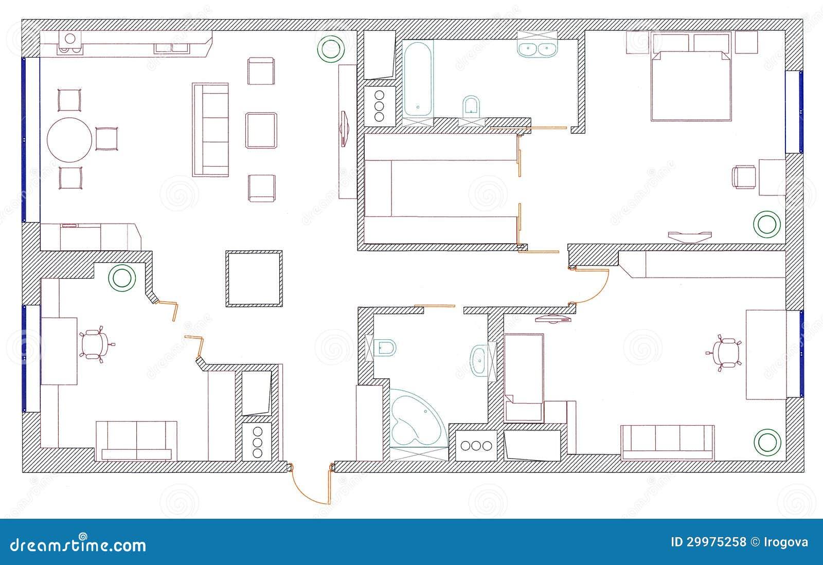 M bel sind auf architektenplan lizenzfreie stockfotos for Architekt planung