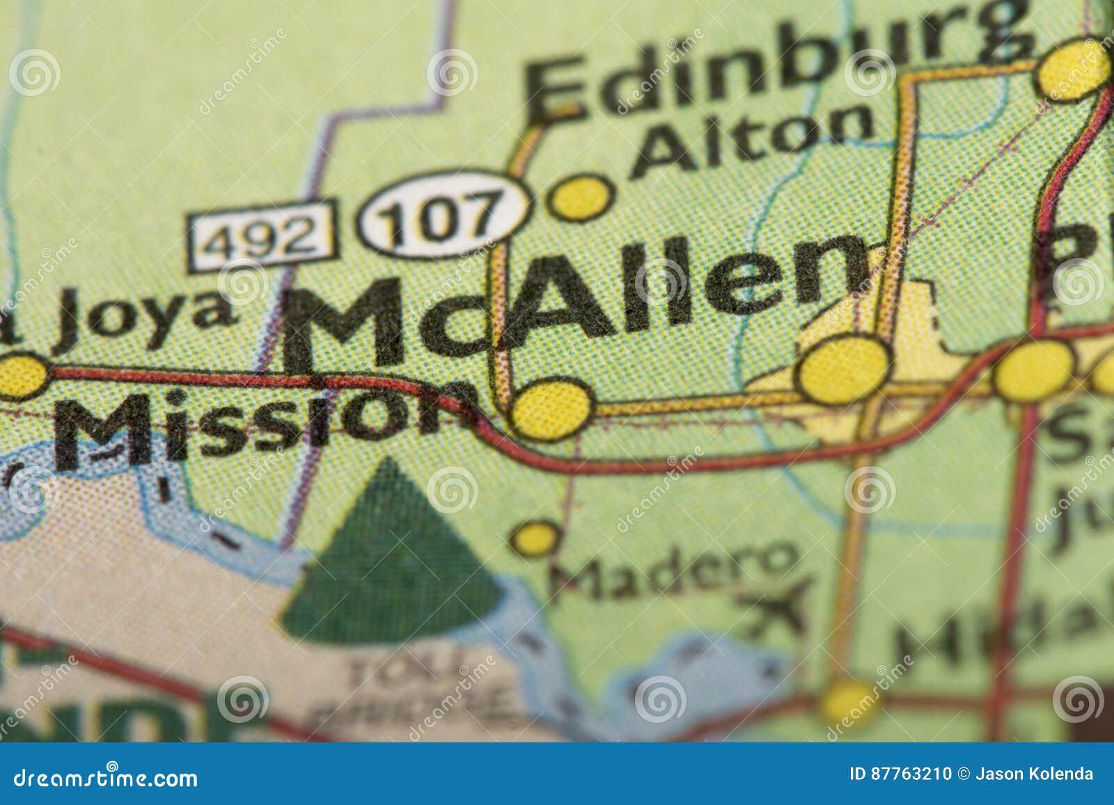 Mcallen Texas On Map Stock Photo Image Of World Tourism 87763210