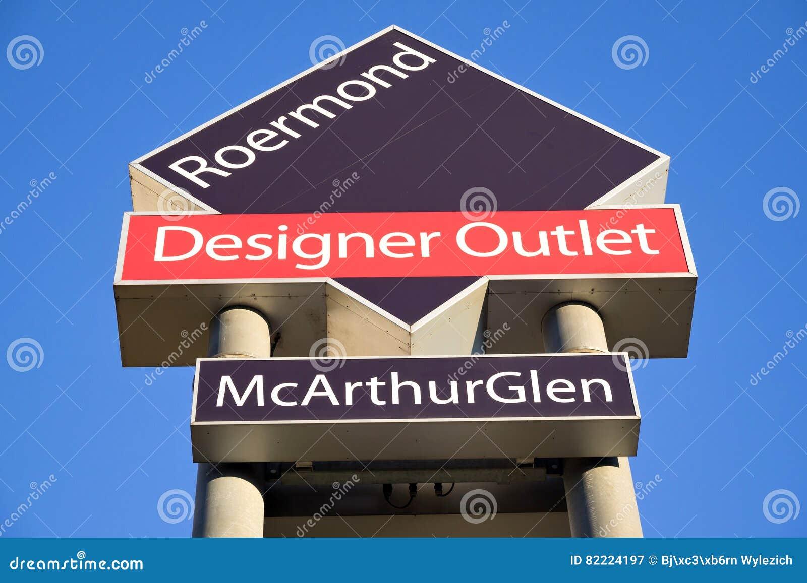 4809ec58fd90cc McArthurGlen Designer Outlet Roermond Signpost Editorial Photography ...