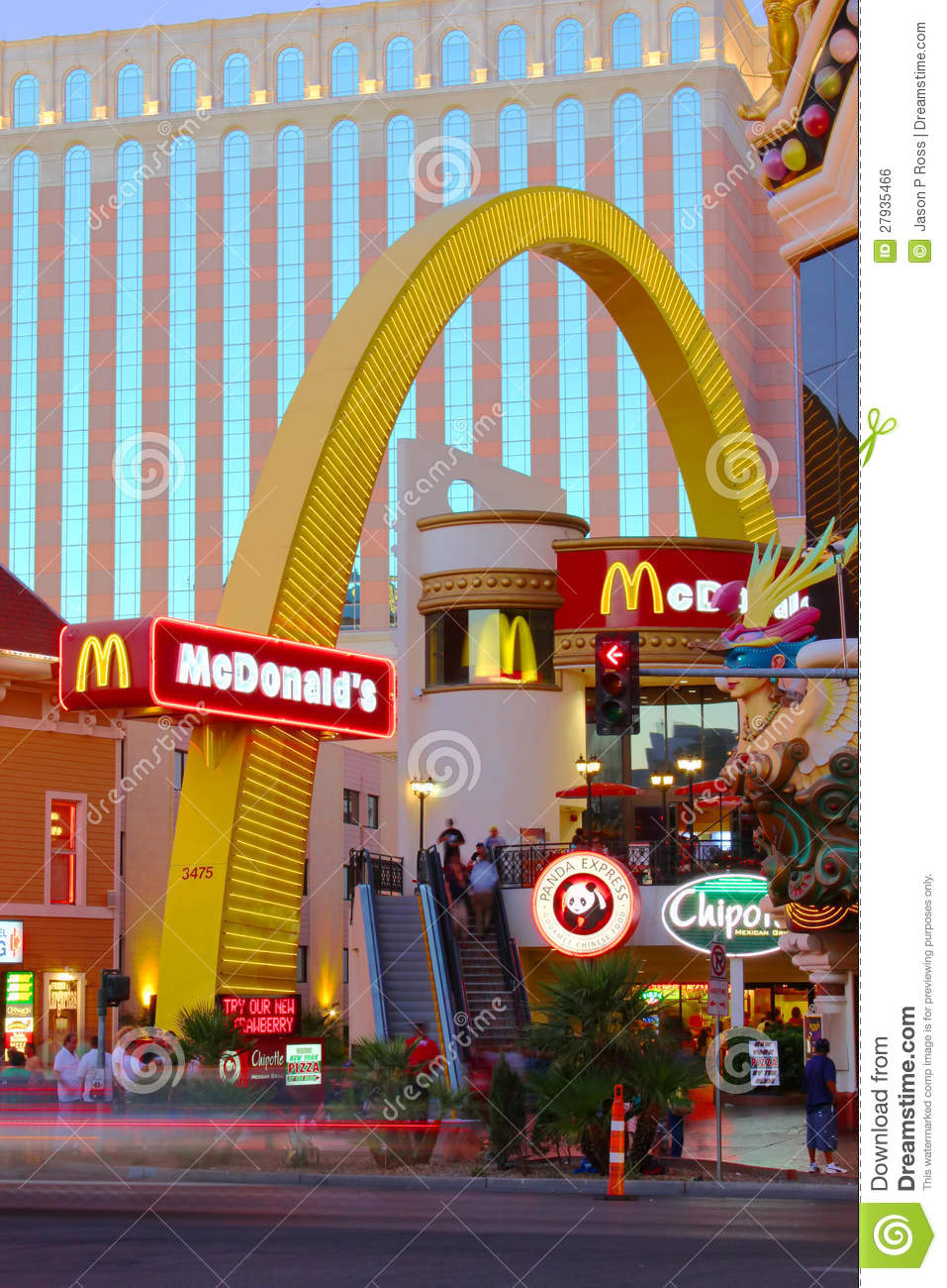 Mcdonald S Las Vegas Strip Editorial Photo Image 27935466