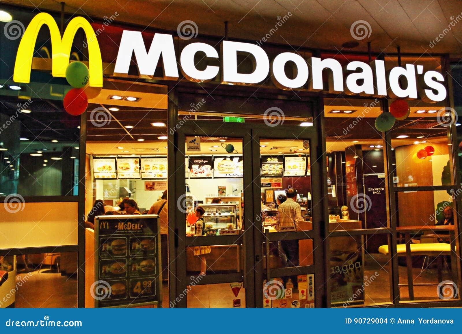 Fast Food In Sofia Bulgaria