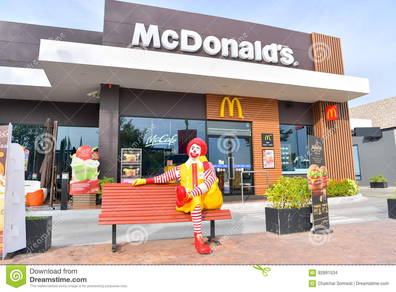 McDonald`s in Thailand  editorial stock image  Image of advertising